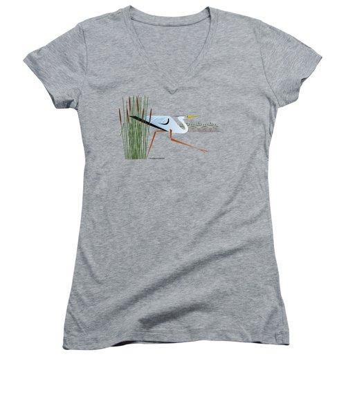 Great Blue Heron Women's V-Neck