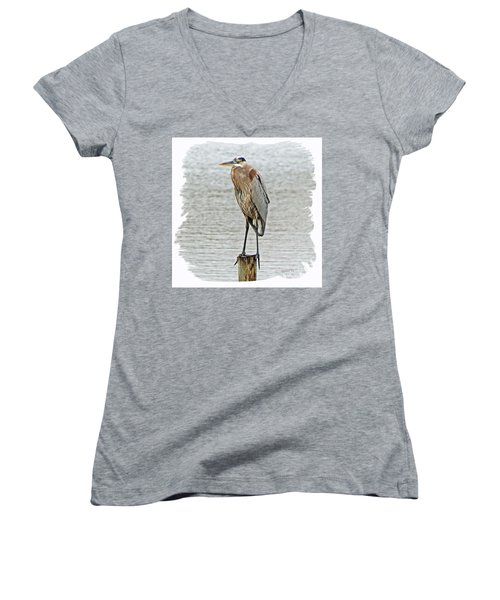 Great Blue Women's V-Neck (Athletic Fit)