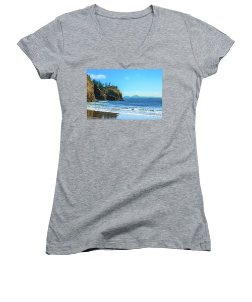 Great View Women's V-Neck T-Shirt (Junior Cut) by Robert Bales