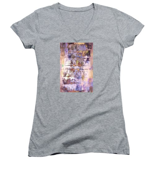 Grungy Abstract  Women's V-Neck (Athletic Fit)