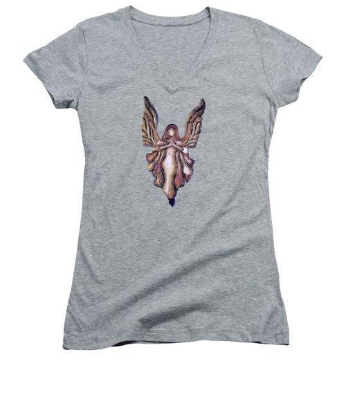 Guardian Angel Women's V-Neck T-Shirt (Junior Cut)