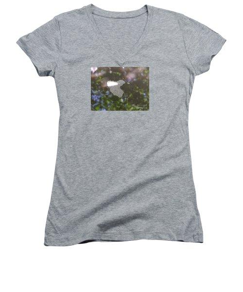 Women's V-Neck T-Shirt (Junior Cut) featuring the photograph heART bubbles by Nora Boghossian