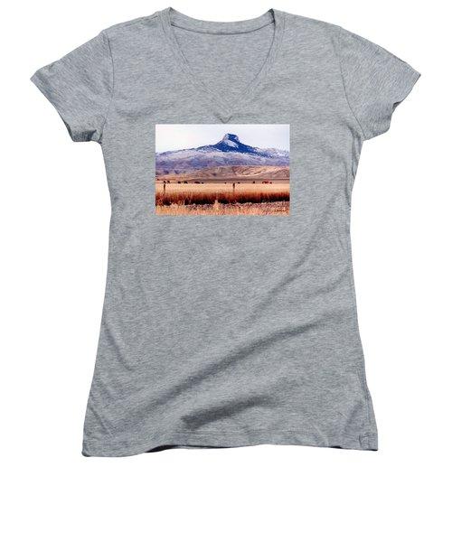 Heart Mountain - Cody,  Wyoming Women's V-Neck