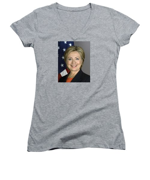 Hillary Clinton Women's V-Neck T-Shirt (Junior Cut)