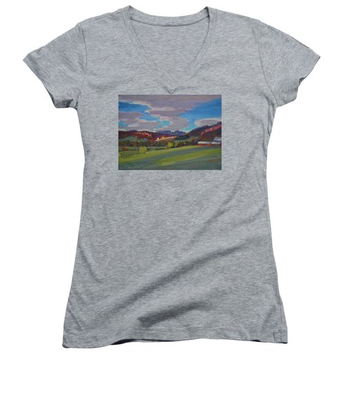 Hills Of Upstate New York Women's V-Neck (Athletic Fit)