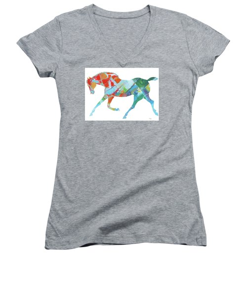 Horse Of Color Women's V-Neck (Athletic Fit)