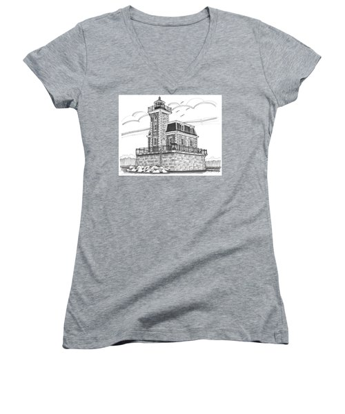 Hudson-athens Lighthouse Women's V-Neck