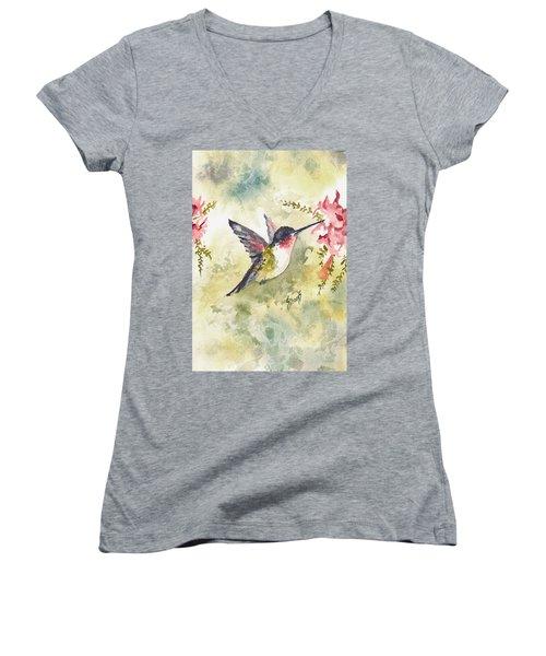 Hummingbird Women's V-Neck