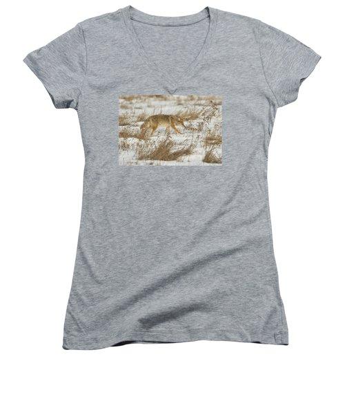 Hunting Women's V-Neck T-Shirt (Junior Cut) by Scott Warner