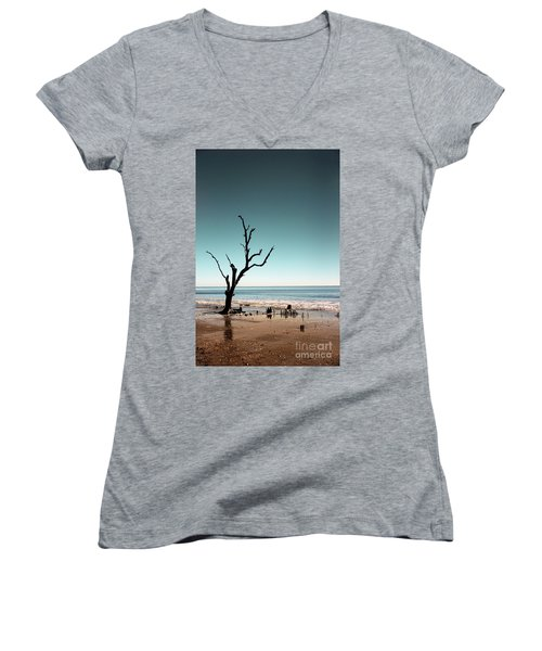 Women's V-Neck T-Shirt (Junior Cut) featuring the photograph I Can Be Free by Dana DiPasquale
