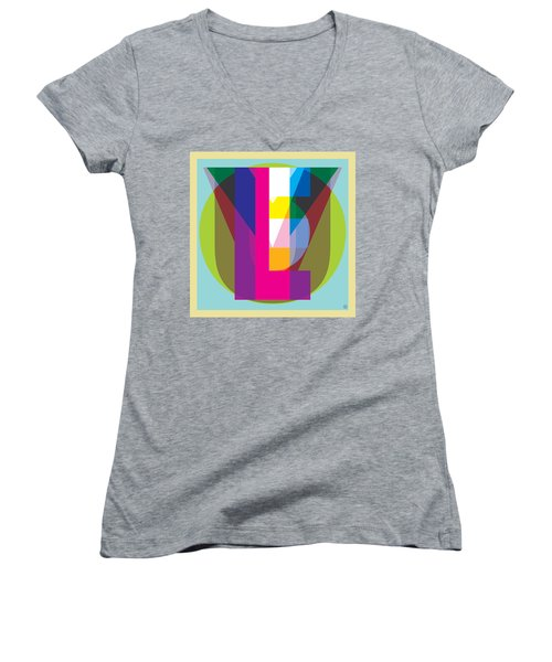 I Love You Women's V-Neck T-Shirt (Junior Cut)