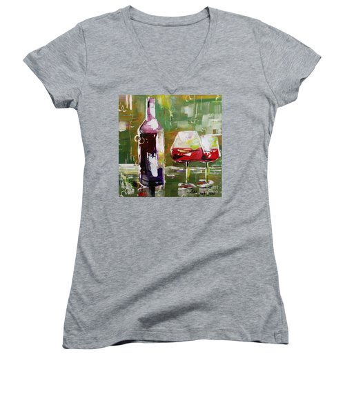 In Vino Veritas. Wine Collection Women's V-Neck (Athletic Fit)