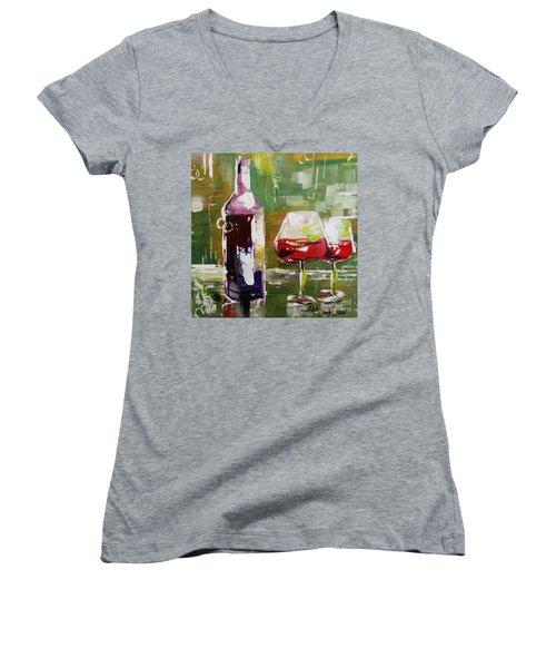 In Vino Veritas. Wine Collection Women's V-Neck T-Shirt