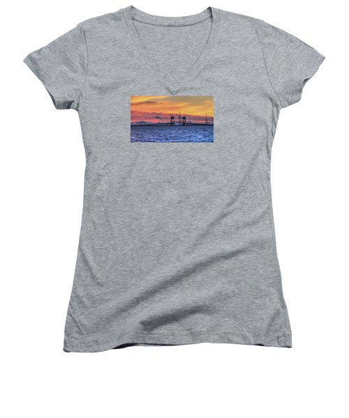 James River Bridge Women's V-Neck T-Shirt