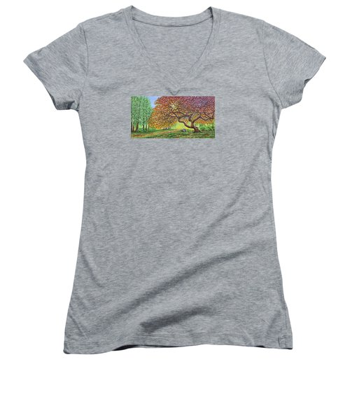 Japanese Maple Women's V-Neck