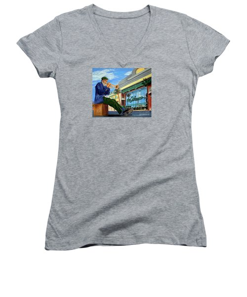Jazz At The Orleans Women's V-Neck T-Shirt