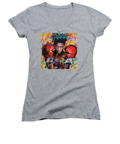 Jean Michel Basquiat Women's V-Neck T-Shirt