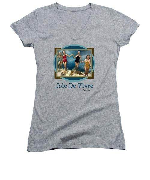 Joie De Vivre Women's V-Neck T-Shirt