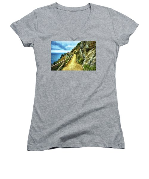 Julia Pfeiffer Burns State Park Women's V-Neck (Athletic Fit)