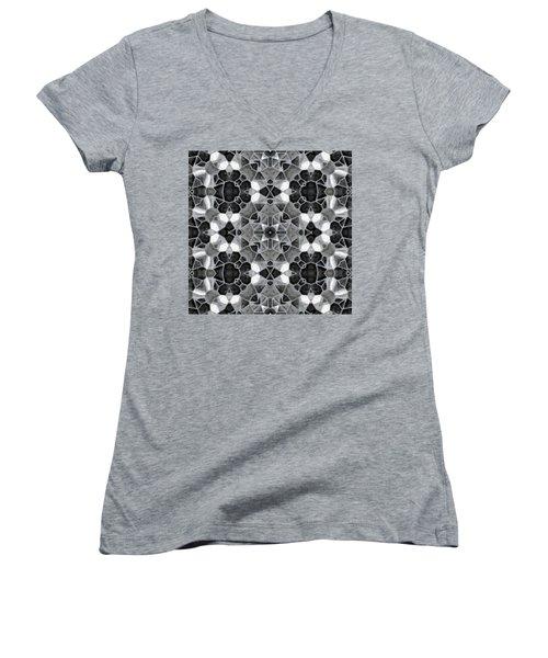Kaleidoscop Women's V-Neck T-Shirt (Junior Cut) by Michal Boubin