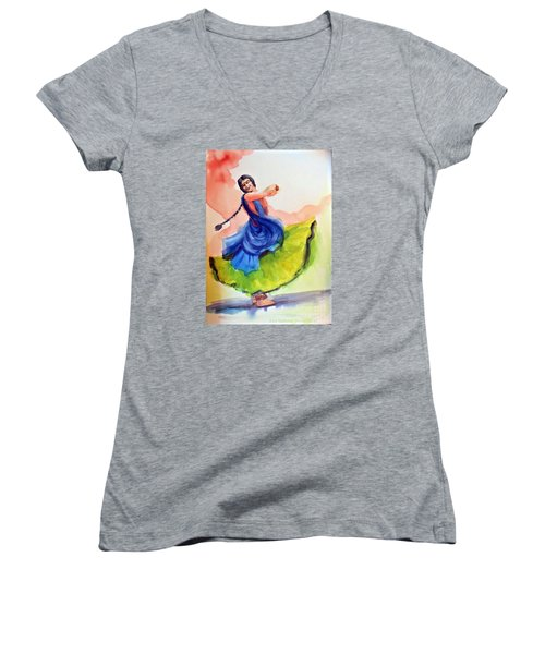 Kathak Dancer Women's V-Neck