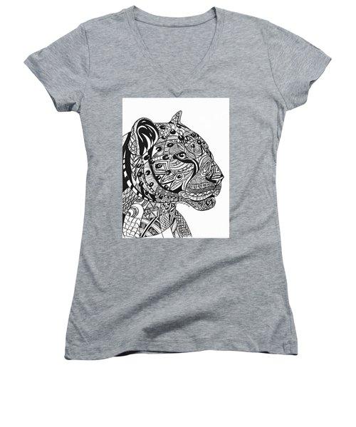 Leopards Women's V-Neck T-Shirt