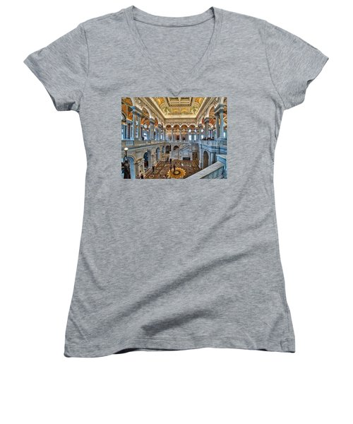 Library Of Congress Women's V-Neck (Athletic Fit)