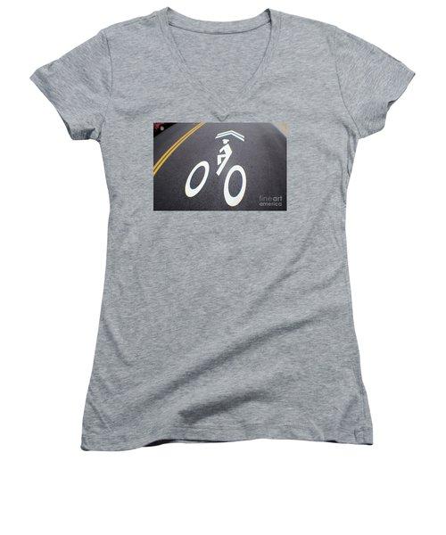Life In The Bike Lane Women's V-Neck T-Shirt