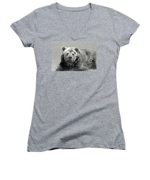 Life Is Good Women's V-Neck T-Shirt (Junior Cut) by Fiona Kennard