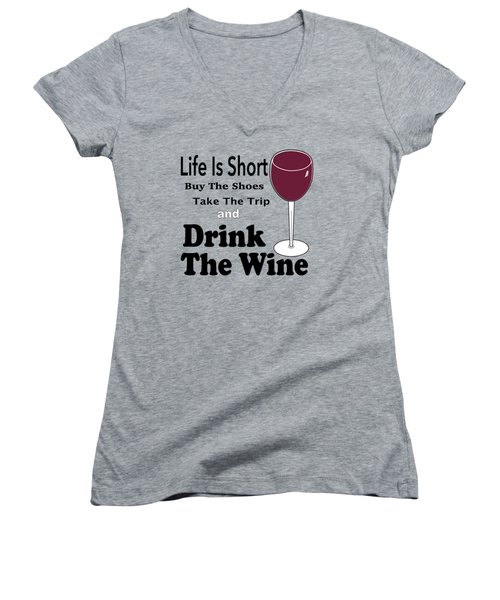 Life Is Short Women's V-Neck (Athletic Fit)