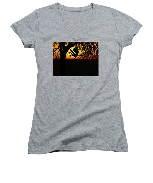Lights And Shadow Women's V-Neck (Athletic Fit)