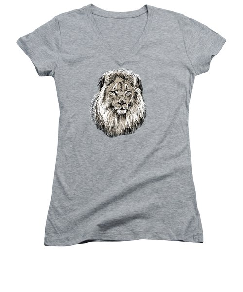 Lion Women's V-Neck (Athletic Fit)
