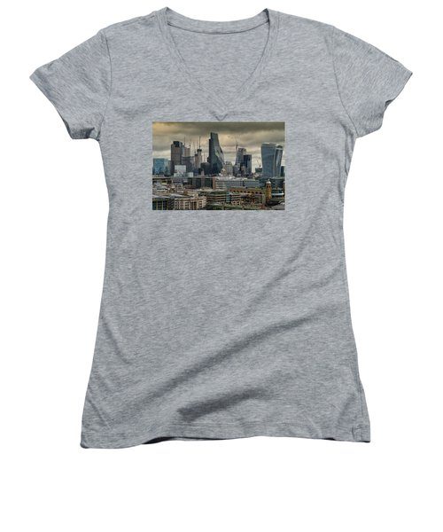 London City Women's V-Neck (Athletic Fit)