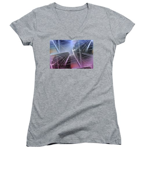 Look Into The Sky Women's V-Neck
