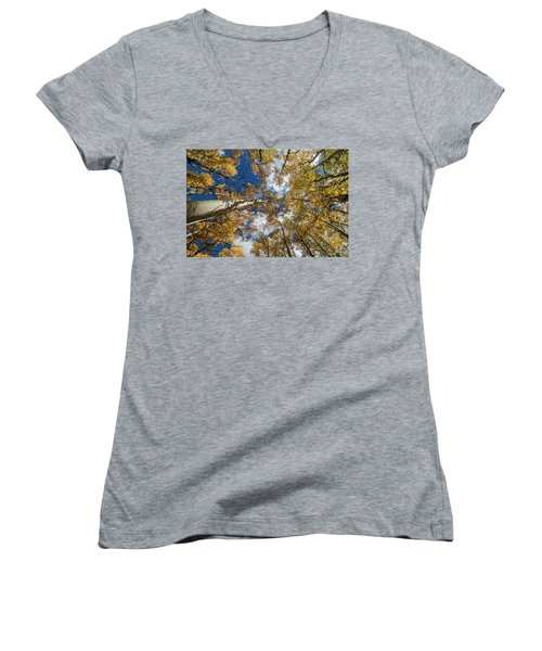 Looking Up Women's V-Neck (Athletic Fit)