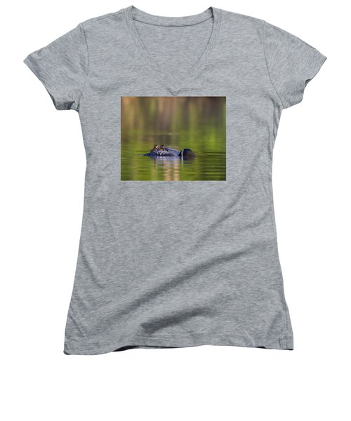 Loon Chick Yawn Women's V-Neck