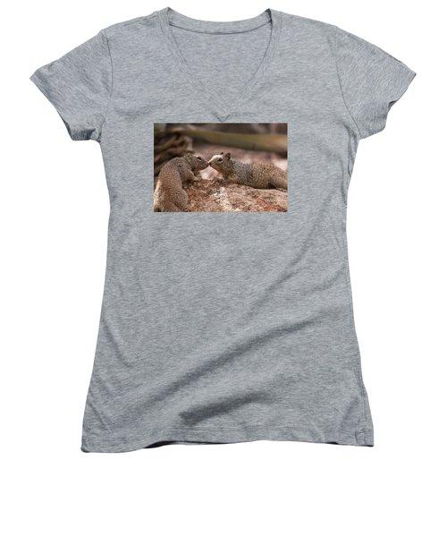 Women's V-Neck T-Shirt (Junior Cut) featuring the photograph Love Is In The Air  by Saija Lehtonen