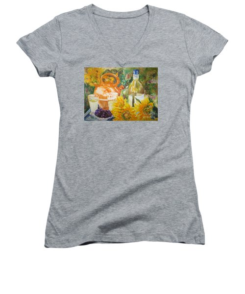 Lunch In Provence Women's V-Neck T-Shirt