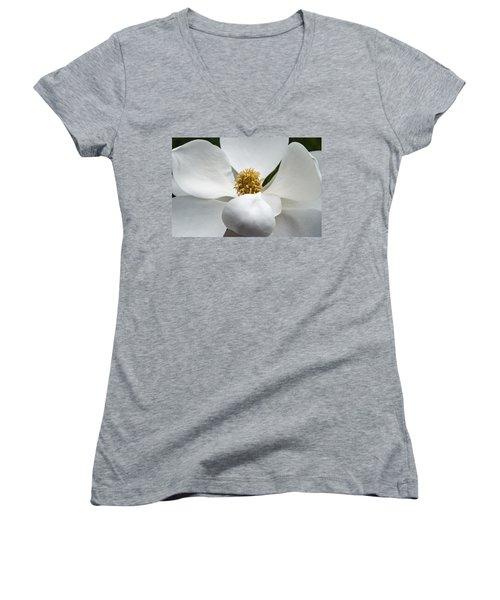 Magnolia Flower Women's V-Neck