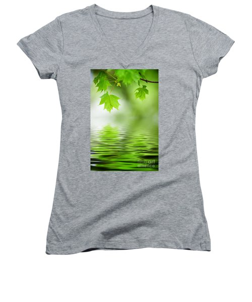 Maple Tree Women's V-Neck T-Shirt