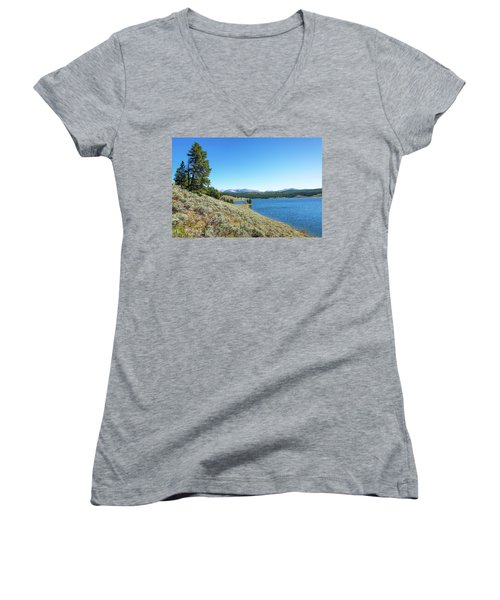 Meadowlark Lake View Women's V-Neck T-Shirt