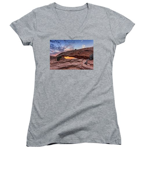 Mesa Arch At Sunrise Women's V-Neck