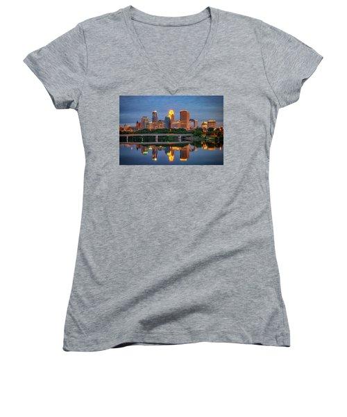 Minneapolis Twilight Women's V-Neck
