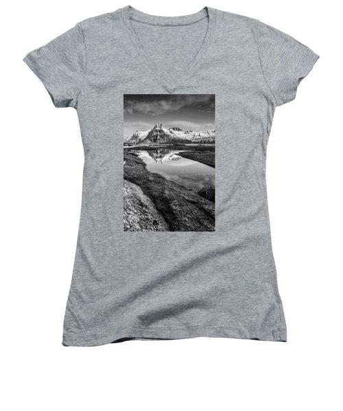 Mirror Women's V-Neck T-Shirt (Junior Cut) by Alex Conu