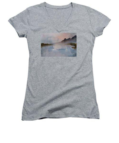 Mist Women's V-Neck T-Shirt (Junior Cut) by Annemeet Hasidi- van der Leij