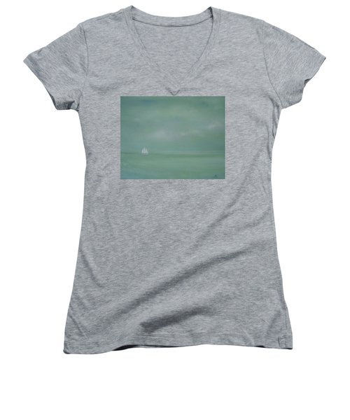 Misty Sail Women's V-Neck T-Shirt
