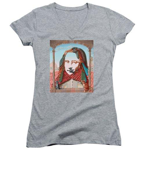 Mona Lisa. Air Women's V-Neck