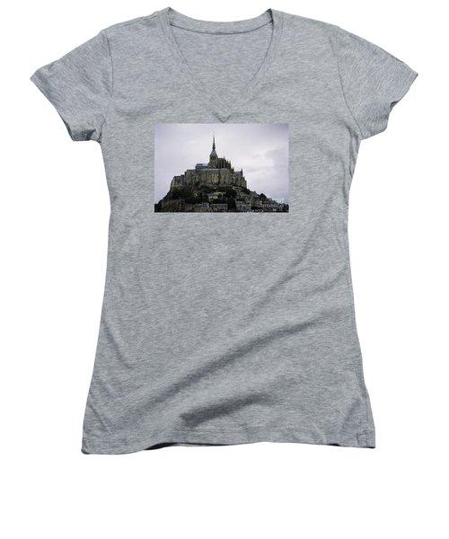 Mont St Michel Women's V-Neck