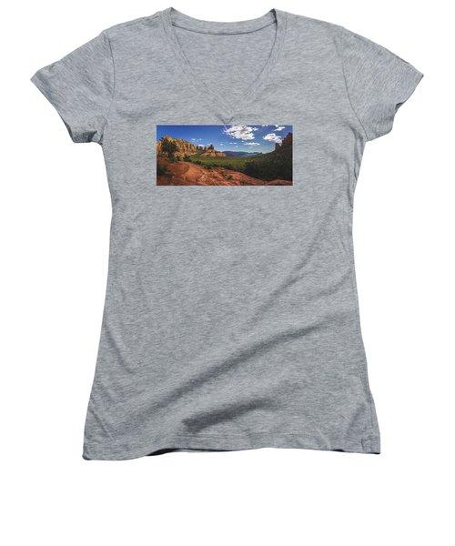 Mormon Canyon Panorama Women's V-Neck