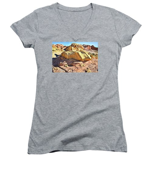Morning In Wash 3 In Valley Of Fire Women's V-Neck